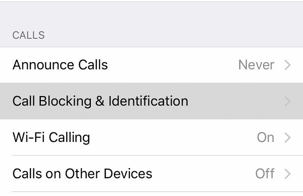 call blocking and identification
