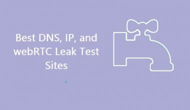 Best DNS, IP, and webRTC Leaks Test Sites